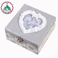Inhoo Decor 2017 European Archaize Receive A Case Portable Mini Jewelry Packaging Box Love Heart Box