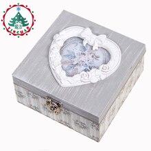 Фотография inhoo Decor 2017 European archaize receive a case  Portable Mini Jewelry Packaging Box Love heart Box  Graduation Birthday Gift
