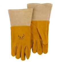 deer leather safety glove Oxygen arc welding gloves quality split deerskin carbon sweat absorbing oil pollution work glove все цены