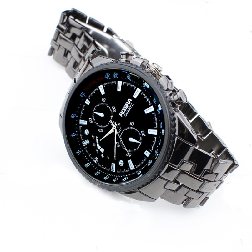 Fashion Men Watches Boutique Stainless Steel Quartz Waterproof Business Sport Clock Jewelry wholesale vF3 1