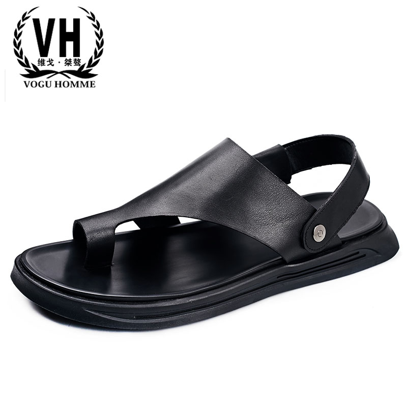 Genuine Leather mens Rome sandals summer Sneakers Men Slippers Flip Flops casual Shoes beach outdoor all-match cowhide Leisure