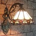 Тиффани Бра Европейский Европейский Ретро Настенные Бра Ванная Комната Спальня Bedlamp Коридор Прохода Настенные Светильники Витражи Абажур