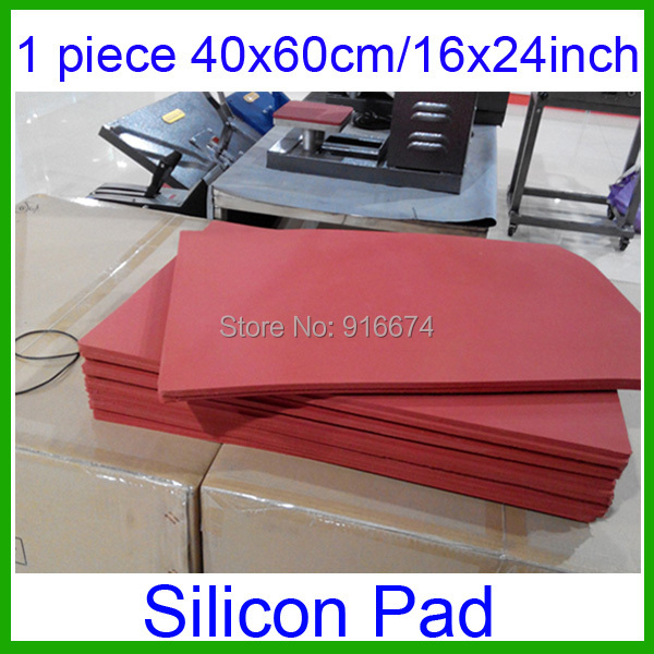 40x60cm/16x24inch high temperature silicone pad plate for heat press machine transfer equipment Sublimation - thickness 8mm dish heat press machine heat press equipment for tray with multicolor st110