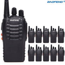 10 шт. Baofeng BF-888S Ham Радио 16Ch UHF 400-470NHZ ручной двухстороннее радио bf888s рация CB радио с 10 гарнитур