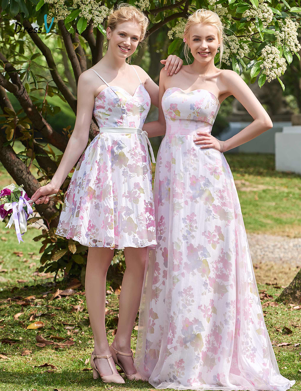 Online get cheap train bridesmaid dress aliexpress alibaba dressv sweetheart a line printed long sleeveless bridesmaid dress sweep train zipper up 2017 off ombrellifo Images