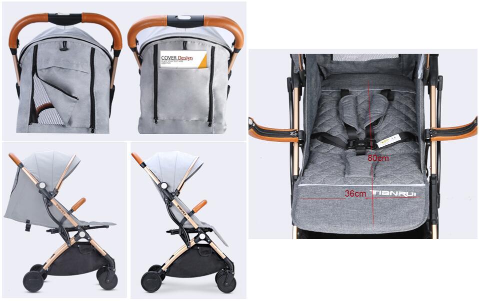 Poussette bébé avion léger Portable voyage landau enfants poussette 4 cadeaux gratuits, 3 USD COUPONS, FRANCE libre d'impôt - 4