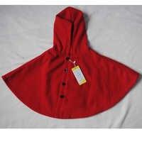2019 hiver printemps mode enfants bébé cape motif noir rouge coton à capuche plaid filles manteau vestes bébé fille cape vêtements
