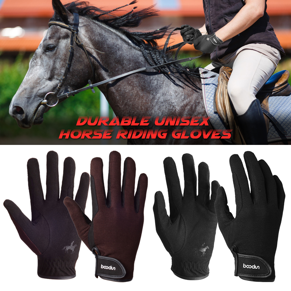 2019 Professional Horse Riding Gloves Equestrian Horseback Riding Gloves Men Women Unisex Baseball Softball Sports Gloves(China)