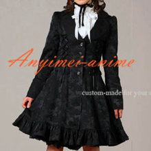 Free Shipping Gothic Lolita Punk Fashion Dress Coat Cosplay Costume Tailor-made