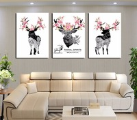 Boreal Europe Style 3 Pieces Of Canvas Painting Chinese Cartoon Posters Wall Adornment Art Gifts Pictures