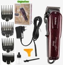 Kemei máquina profesional de corte de pelo eléctrica con cuchilla de titanio, corte de pelo, barbero, peine de límite para niños y adultos, 110 240V