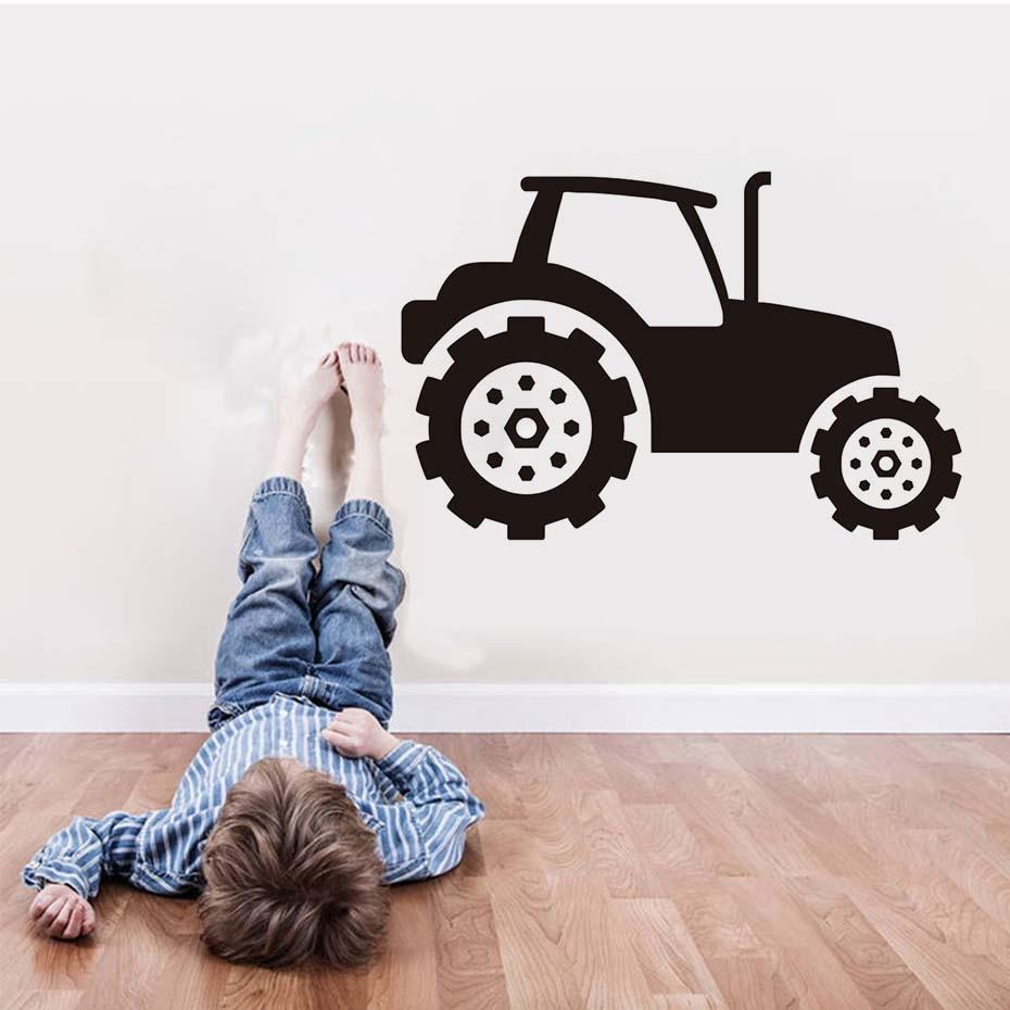 Kinder Traktor Wandaufkleber Selbstklebende Vinyl Abnehmbare ...