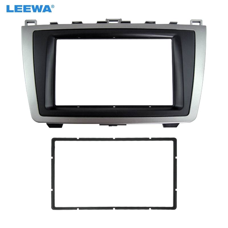 LEEWA Car 2DIN Audio <font><b>Radio</b></font> Fascia For <font><b>Mazda</b></font> <font><b>6</b></font> 2009-2013 Stereo Plate Panel Frame Installation <font><b>Dash</b></font> Mount Trim <font><b>Kit</b></font> #CA5005 image