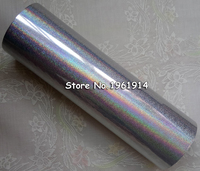 Hot stamping foil Holographic foil hot stamping on paper or plastic 16cm x 120m silver sand color