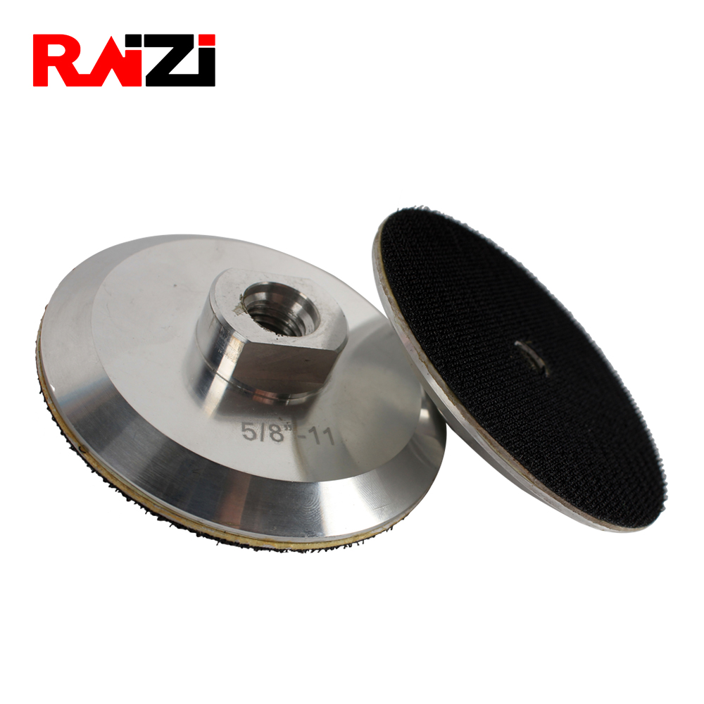 Raizi 4 Inch/100 Mm Aluminum Backer Pad For Diamond Polishing Sanding Pad M14, 5/8-11 Economic Hook&Loop Back Up Pad Holder