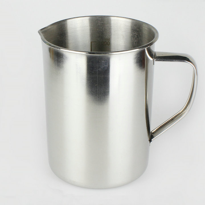 1pc 500ml, 1000ml, 2000ml Stainless Steel Lab Beaker, Measuring Cups With Inner Scale For Laboratory 3000ml glass beaker laboratory measuring beakers 1pc lot