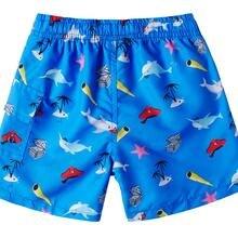 От 4 до 10 лет г. Летние шорты для мальчиков быстросохнущие пляжные шорты с 3D принтом динозавра акулы плавки для детей пляжные шорты+ сетчатая юбка