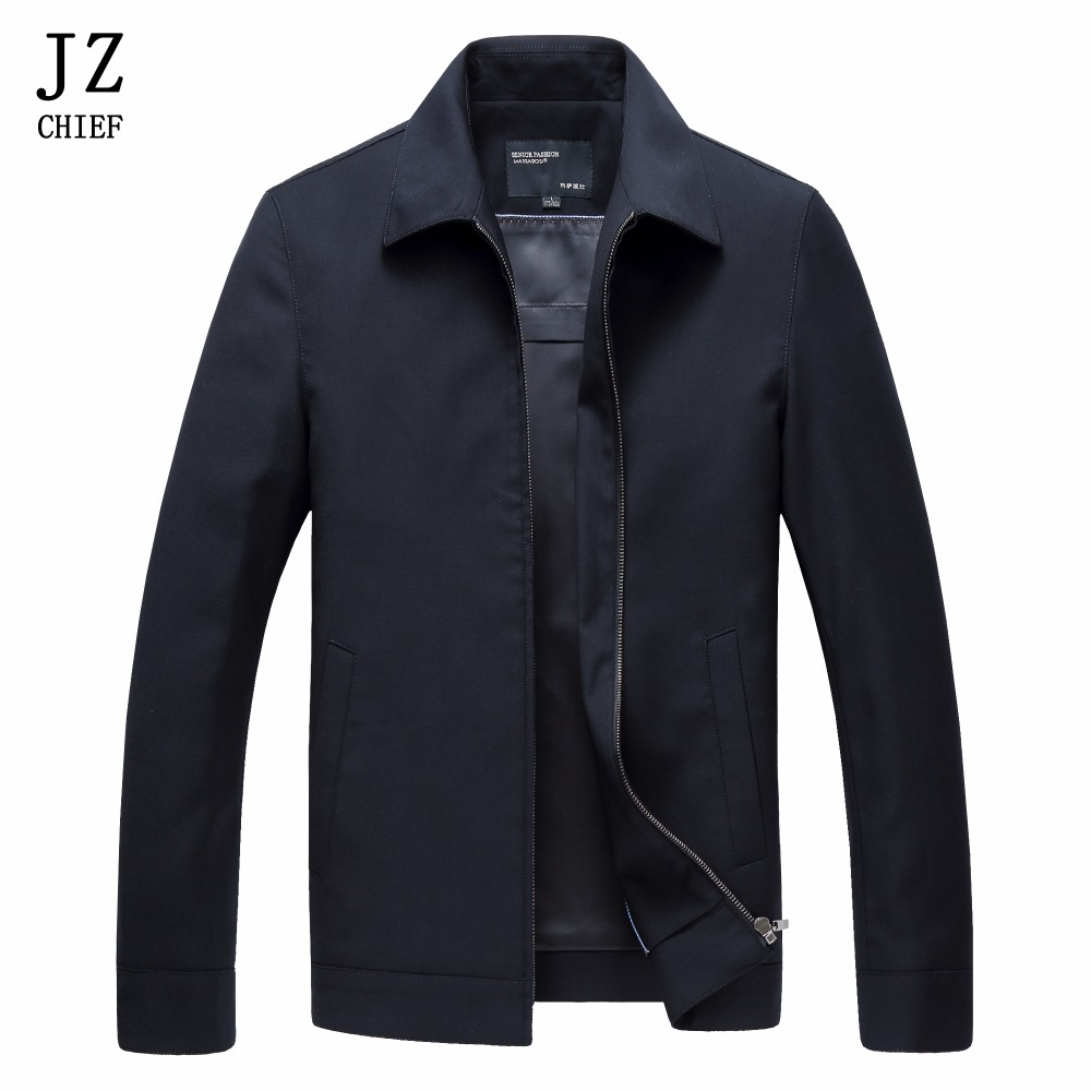 Здесь продается  JZ CHIEF Mens Casual Jackets and Coats Solid Color Clothes Male Turn Down Collar Coat Wool jackets Black Work Jacket Mature man  Одежда и аксессуары