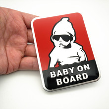 hot deal buy fdik 1pcs baby on board car safty sticker decal waterproof night reflective wall aluminum stickers car covers car styling