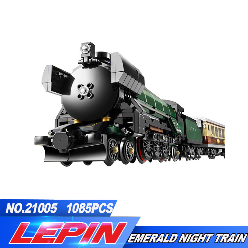 LEPIN 21005 Creator series the Emerald Night model building blocks set Classic compatible Steam trains Toys Christmas Gift 2016 new lepin 21005 creator series the emerald night model building blocks set classic compatible legoed steam trains toys