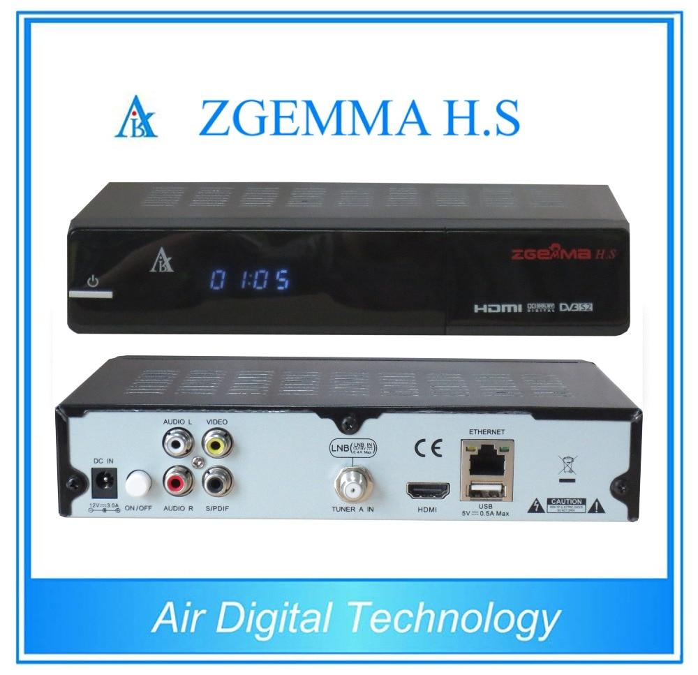 5 pcs/lot ZGEMMA H.S dual core CPU satellite tv box receiver DVB S2 Enigma2 IPTV firmware i box rs232 dvb s satellite smart sharing nagra 3 dongle black