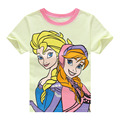 2017 Princess Pattern Summer Cute Kid T-shirts Girls Clothes Cartoon Girls T-shirt Girl Short Sleeve Top Children Clothing ss073