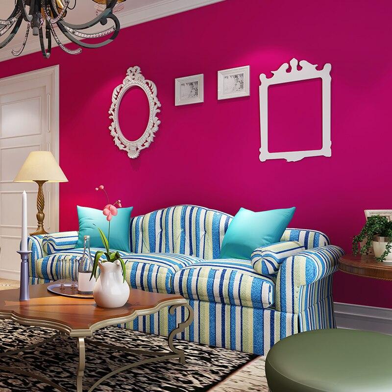beibehang papel de parede modernen minimalistischen einfarbigen tapeten schlafzimmer romantischen hintergrund beaut salon gepflasterte rote rose