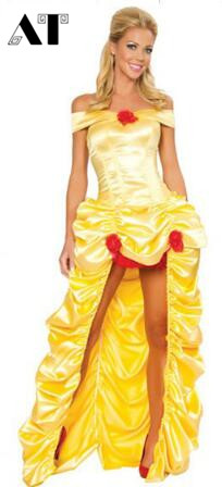 Fairy Tale Costume Princess Belle Cosplay Costumes Adult Princess Costume Yellow Dress  sc 1 st  AliExpress.com & Fairy Tale Costume Princess Belle Cosplay Costumes Adult Princess ...