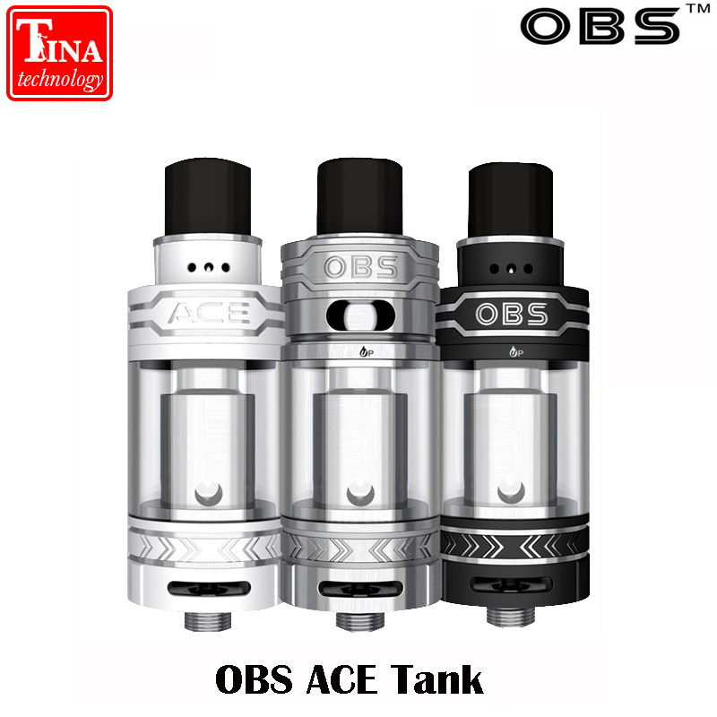 Original OBS ACE Tank 4.5ml Wattage 25w-45w With Ceramic 0.85 Coil OBS ACE Atomizer For 510 Thread Battery For Free Shipping