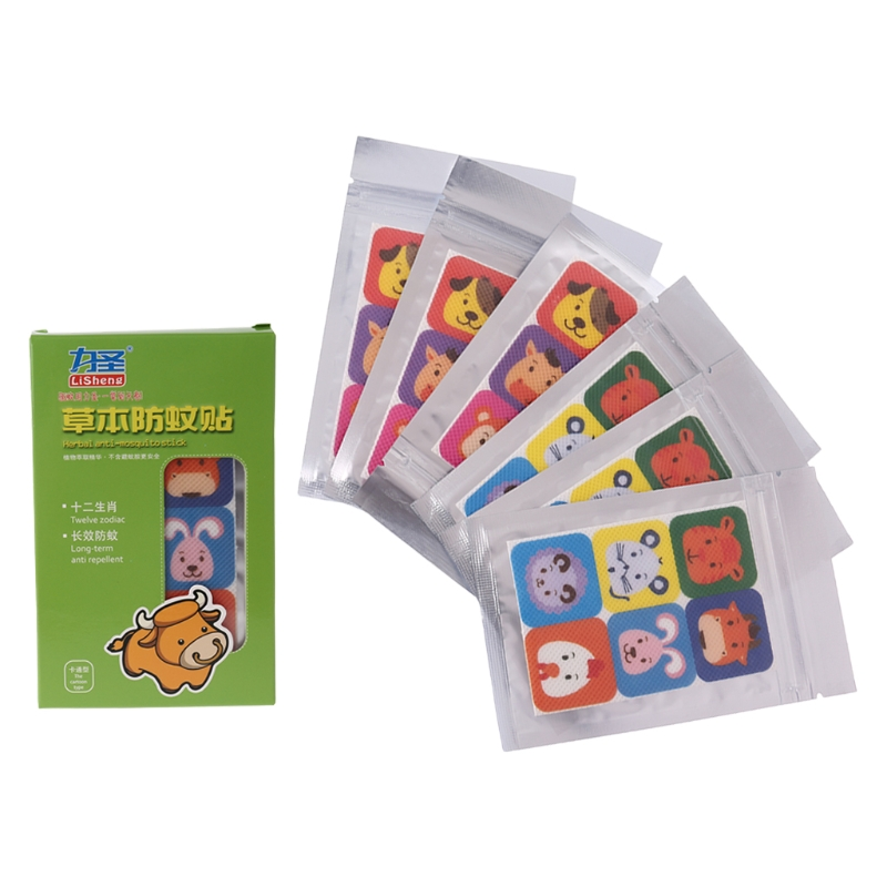 Mosquito Repellent Sticker Summer Insect Killer Repeller Cartoon Baby Adult 36pc