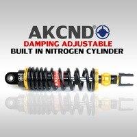AKCND Universal 320mm 340mm/12.5Motorcycle shock absorber rear shock absorber For Yamaha Honda Suzuki Kawasaki PCX 150 NMAX 155