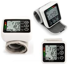 STRIKATE LCD Digital talking Home Automatic Wrist Blood Pressure Pulse Sphygmomanometer and Tonometer Monitor Heart Beat Meter