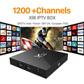 X96 Iptv Box 2G16G S905X Sky IT UK DE Android Europe Arab IPTV Box For Spain Portugal Turkish Netherlands Smart Wifi IPTV Tv Box