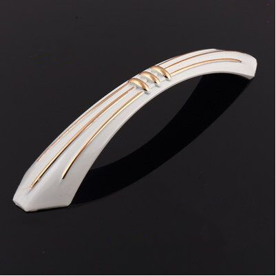 96mm kitchen cabinet handles gold cupboard pull ivory white drawer dresser door handle pull knob vinatge furniture handles pulls