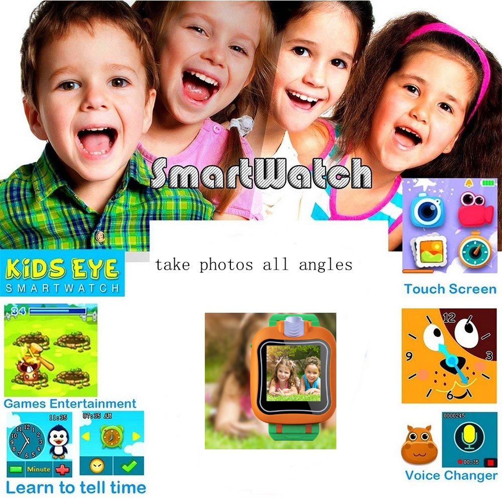 Wearable devices cute smartwatch kids 1.5inch touch screen camera watch with games play camara video kids smartwatch