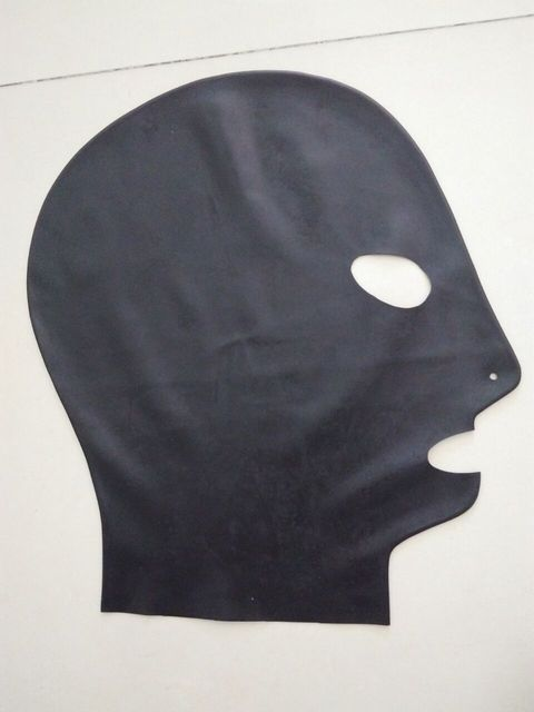 Hot new Latex mask fetish  unisex standard seamless hoods module made 3 size select-able with opened eyes mouth