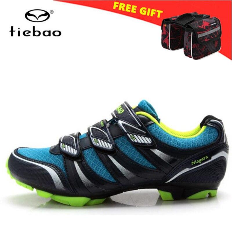 цена на Tiebao Cycling Shoes man 2018 Professional Mountain Bike Sapatilha Ciclismo Mtb Shoes Men sneakers women Shoes Biking Triathlon