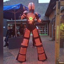 RGB Изменить цвет костюм робота со светодиодами ночных клубов вечерние одежда со светодиодами/легкие костюмы/светодиодные костюмы роботов/робот криомен/Давид робо