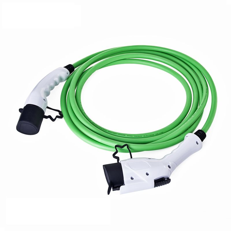 16Amp 5 Meter SAE J1772 EV Plug Type 1 To Type 2 EV Charging Lead EVSE Connector Electric Vehicle Charger Station