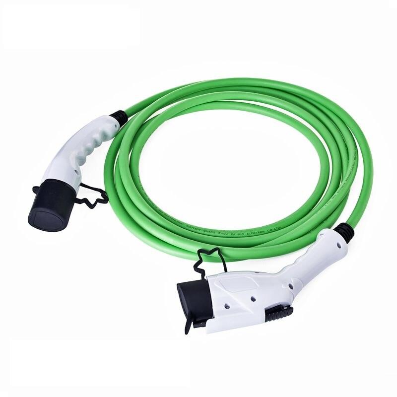16Amp 5 mètres SAE J1772 EV Type de prise 1 à Type 2 EV fil de charge EVSE connecteur Station de chargeur de véhicule électrique