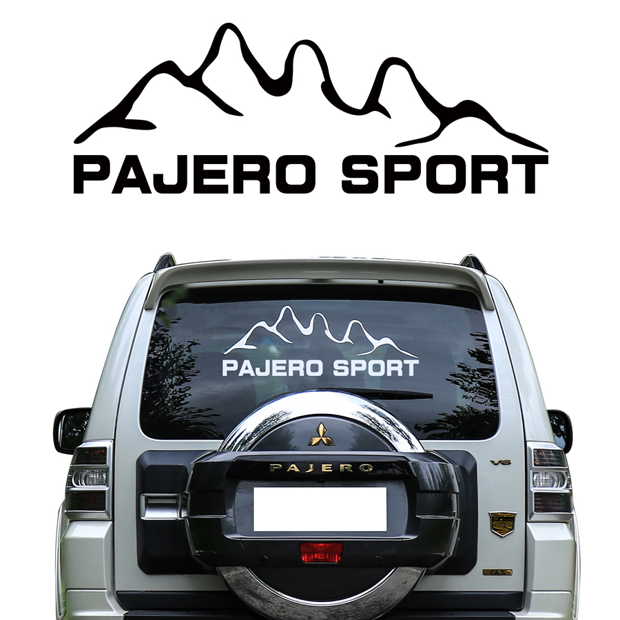 car sticker 1pc car tail windon mountains styling graphic vinyls car accessories decalscustom for mitsubishi pajero sport car window curtains legal