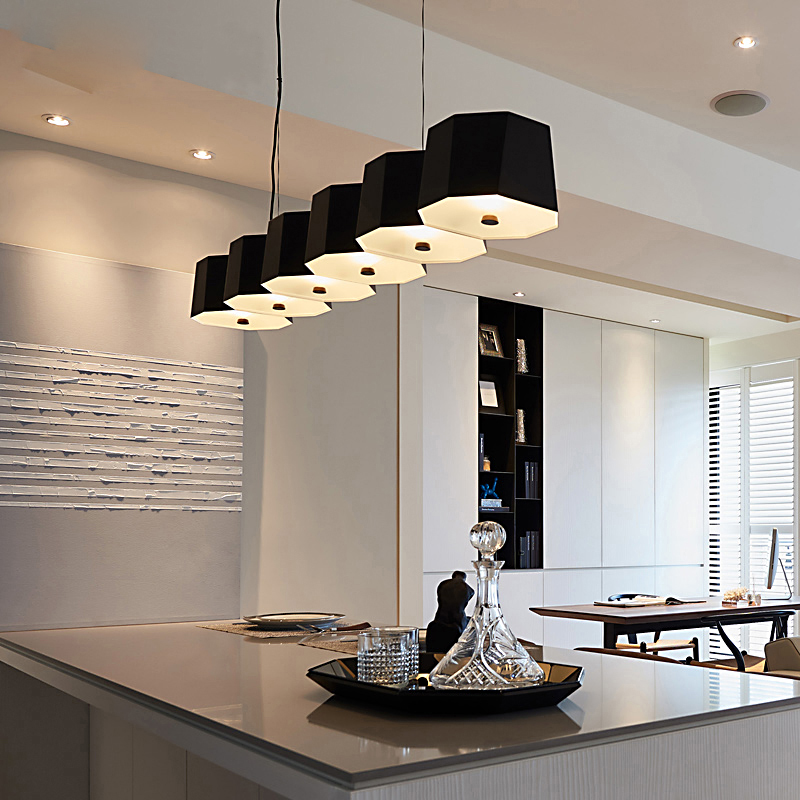 Hot Sale New Restaurant Chandelier Led Post Modern Table Lamp Simple Personality Creative Bar Table Lamp Nordic Three Head Led Lighting Ceiling Lights & Fans