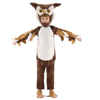 Birthday Parties Clever Owl Jumpsuit Kids Handmade Animals Stage Performance Cosplay Costume Suit Children's Day Halloween
