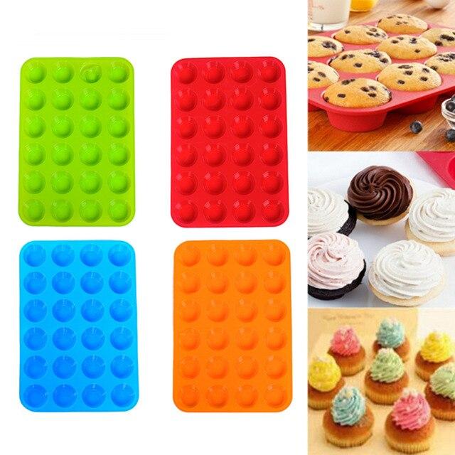 1 pcs 24 cavité mini muffin tasse silicone savon biscuits gâteau