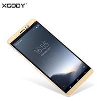 XGODY 3G Dual Sim Smartphone 6 Inch Android 5.1 Mobile Phone MTK6580 Quad Core 1GB RAM 8GB ROM 2500mAh WiFi GPS Telefone Celular