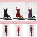 """POPTOYS  F17 A/B/C 1/6 Scale Haute Couture Version Sexy Leather Sling Skirt Dress Suit  For 12"""" Female Phicen Figure Doll Toys"""