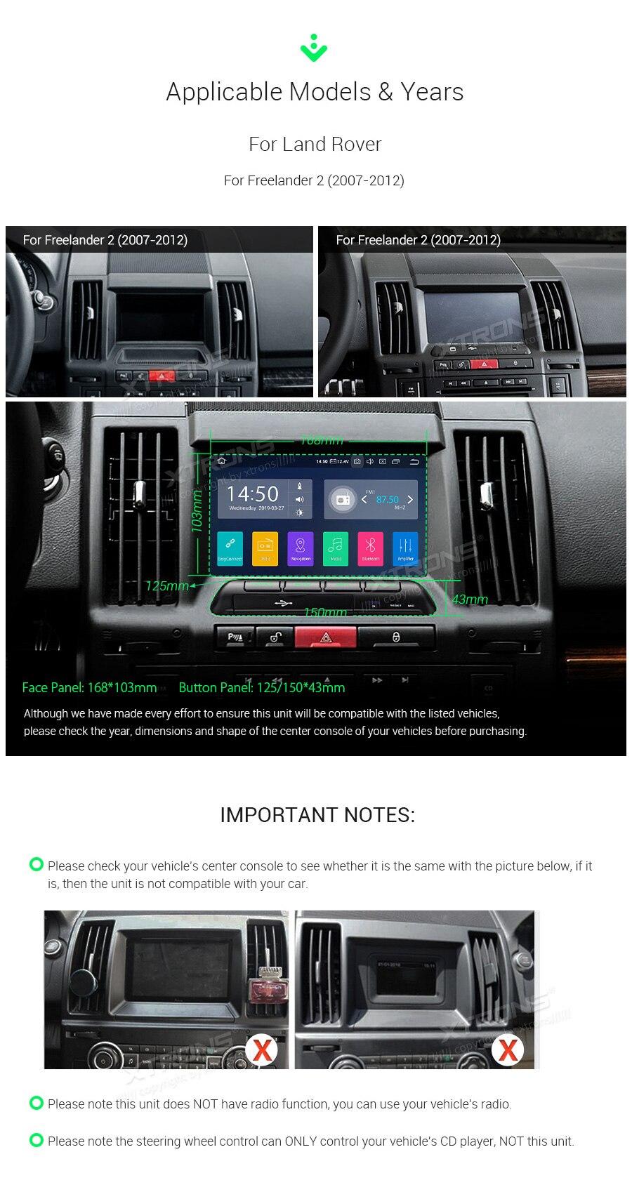 "Excellent 7"" Android 9.0  Car Multimedia Navigation GPS radio for Land Rover Freelander 2 2006 2007 2008 2009 2010 2012 2013 2014 (L359) 2"