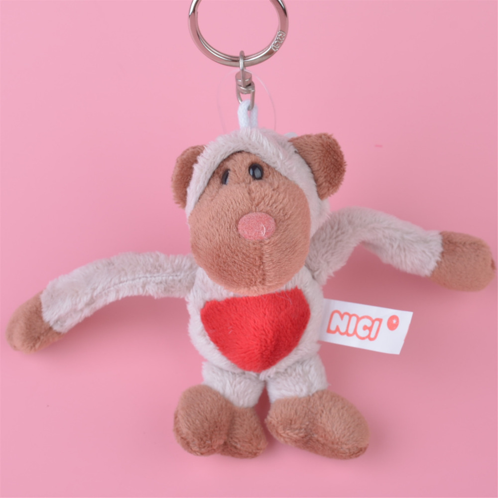 3 Pcs Light Color Monkey Small Plush Pendant Toy, Kids Doll Keychain / Keyholder Gift Fr ...