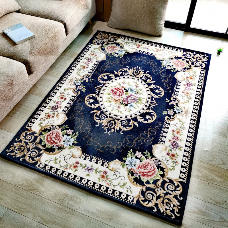 Polyester Weaving Floor Mat Living Room Classic Europe Style Doormat Washable Kitchen Floor Carpets Entrance Bathroom Mats image