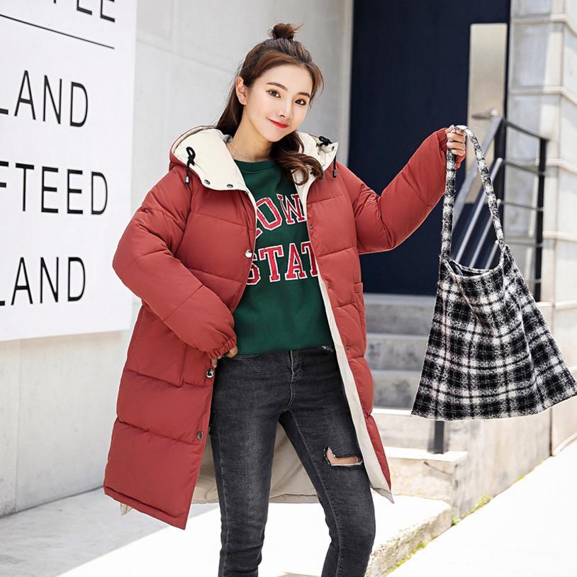 Lungo Cotone Parka Red Black orange Modo Donne Femminile Imbottito Delle green Giacca Outwear 20218 Commercio brick Cappotto L1144 All'ingrosso Di Imbottiture Sottile Felpe Inverno qnxgOp8v
